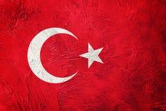grunge chorągwiany indyk Turecczyzny flaga z grunge teksturą Obraz Royalty Free