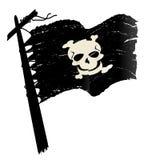 grunge chorągwiany pirat ilustracja wektor