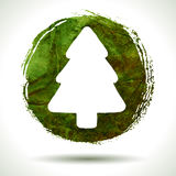 Grunge christmas background. Grunge christmas. Christmas background. Christmas tree. Grunge label. Abstract vector. Hand drawn. Holiday background. Abstract Royalty Free Stock Images