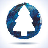 Grunge christmas background. Grunge christmas. Christmas background. Christmas tree. Grunge label. Abstract vector. Hand drawn. Holiday background. Abstract Stock Photo