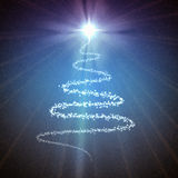 Grunge christmas background. Background with stars and decoration for your design in blue and white colors Stock Image