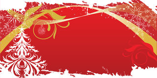 Grunge christmas background. In red palette Stock Photo