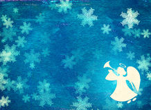 Grunge Christmas background with angel Royalty Free Stock Images
