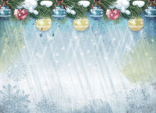 Grunge Christmas background. New Year holiday background with free space for greeting text Stock Photography