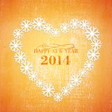 Grunge Christmas background in the orange heart Royalty Free Stock Photo
