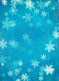 Grunge Christmas background with snowflakes Royalty Free Stock Photography