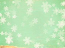 Grunge Christmas background with snowflakes Stock Images