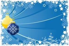Grunge Christmas balls Stock Images