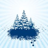 Grunge christmas banner. Vector grunge christmas banner. Eps8 Royalty Free Stock Photography