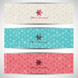 Grunge Christmas banners Royalty Free Stock Photography