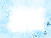 Grunge christmas border/background. Cute light blue and white winter ice background Stock Image