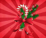 Grunge christmas candy cane red background Stock Photography