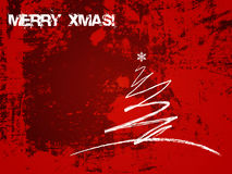 Grunge Christmas card Royalty Free Stock Photography