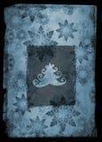 Grunge christmas card - blue Stock Photo