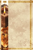 Grunge christmas card candle Royalty Free Stock Photo