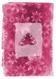 Grunge christmas card - pink Royalty Free Stock Image