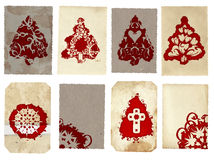 Grunge Christmas cards collage Royalty Free Stock Photography
