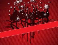 Grunge christmas city Stock Photography