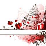 Grunge Christmas Frame royalty free illustration