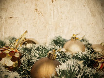Grunge Christmas golden decoration background Royalty Free Stock Photography