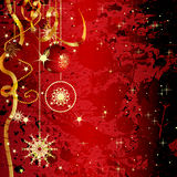 Grunge christmas greeting card Royalty Free Stock Photography