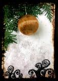 Grunge christmas postcard Royalty Free Stock Image