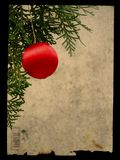 Grunge christmas postcard Royalty Free Stock Photos