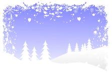 Grunge Christmas Scene Royalty Free Stock Images