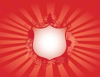 Grunge Christmas shield Royalty Free Stock Photo