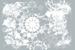 Grunge christmas snowflakes Royalty Free Stock Image