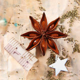 Grunge Christmas still life Royalty Free Stock Images