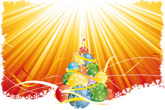 Grunge Christmas tree Royalty Free Stock Images