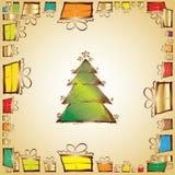 Grunge christmas tree Stock Image