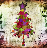 Grunge christmas tree Stock Images