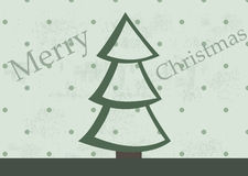 Grunge Christmas tree Royalty Free Stock Photography