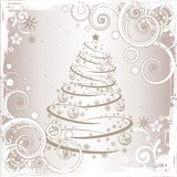 Grunge Christmas tree royalty free stock photo