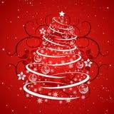 Grunge Christmas Tree stock photo