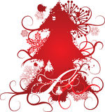 Grunge christmas tree background, vector illustration Stock Photo