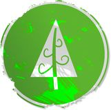 Grunge Christmas tree sign Royalty Free Stock Photo