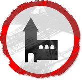 Grunge church sign stock illustration