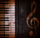 Grunge ciemny muzykalny tło Zdjęcie Royalty Free