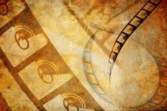 Grunge Cinema Countdown Film Background Stock Photo