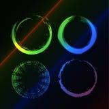 Grunge circle Stock Photo