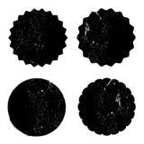Grunge circle stamp background textures set stock illustration