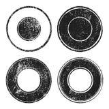 Grunge circle stamp set Stock Photos