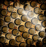 Grunge circles. On abstract background Stock Images
