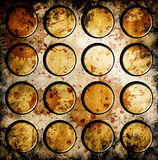 Grunge circles. On abstract background Royalty Free Stock Photography