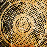 Grunge circles. On the abstract background Royalty Free Stock Image