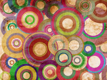 Grunge circles abstract background. Abstract grunge circles on vintage paper Stock Images