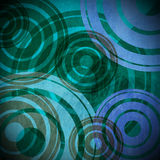 Grunge Circles Background - Cold Colors Stock Photo